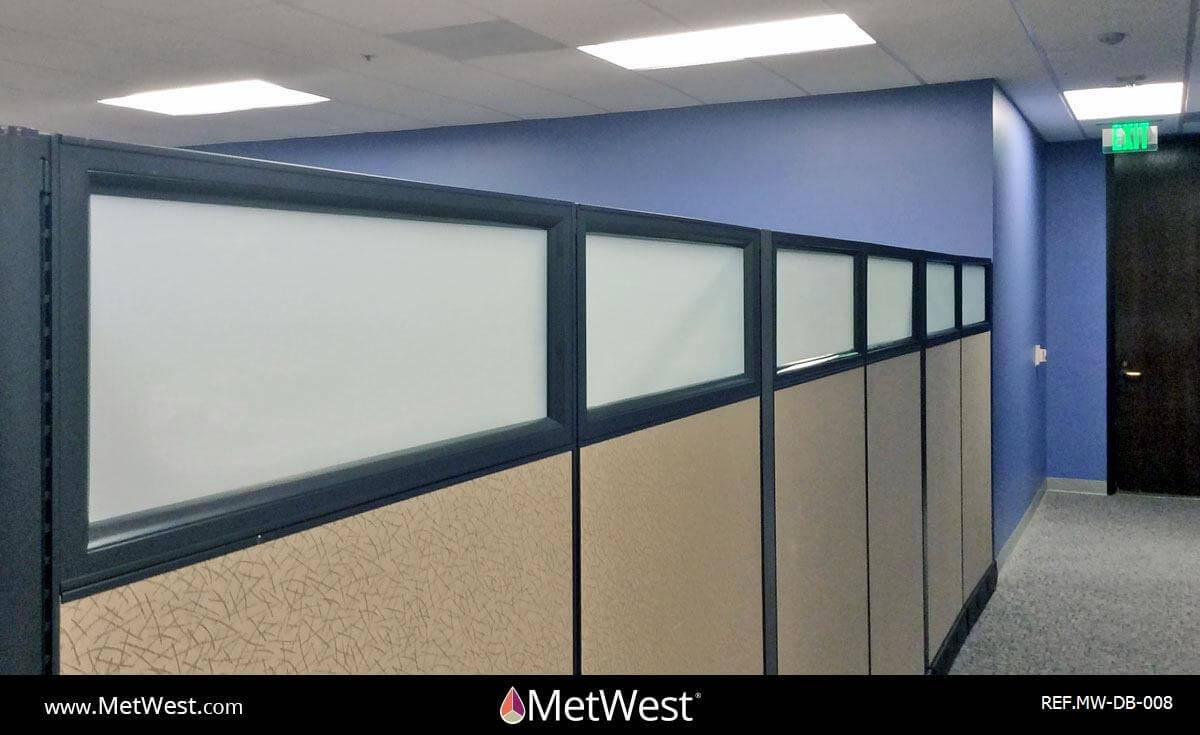 Decorative Glass Film  DB-008 Material:  Metro Frost  Location:   Project:   Client:   Application:  privacy window film