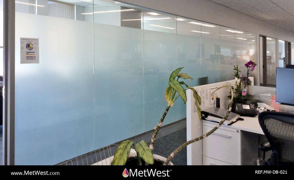 Decorative Glass Film  DB-021 Material:  dusted crystal Location:   Project:   Client:   Application:  privacy film band
