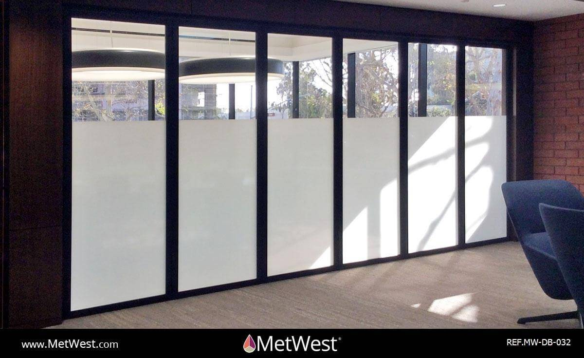 Decorative Glass Film  DB-032 Material:  Metro Frost  Location:   Project:   Client:   Application:  privacy film band