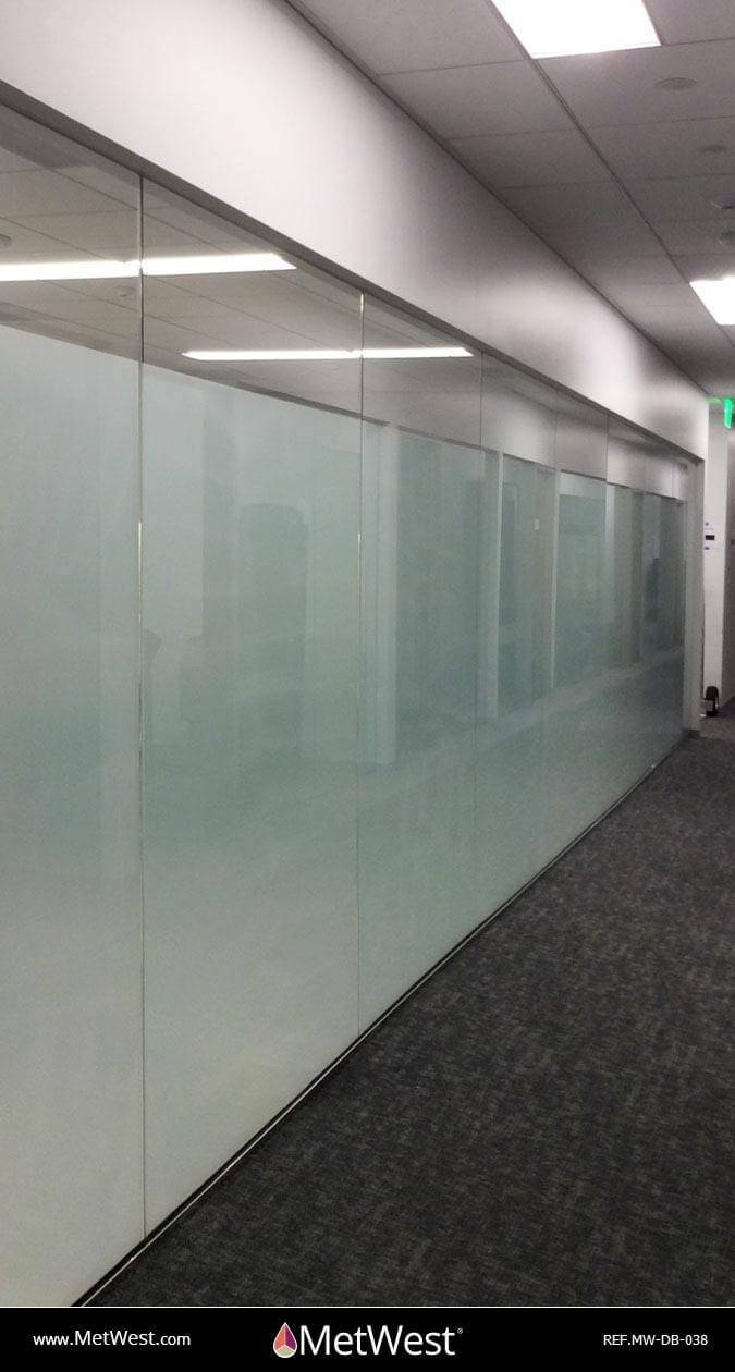 Decorative Glass Film  DB-038 Material:  dusted crystal Location:   Project:   Client:   Application:  privacy film band