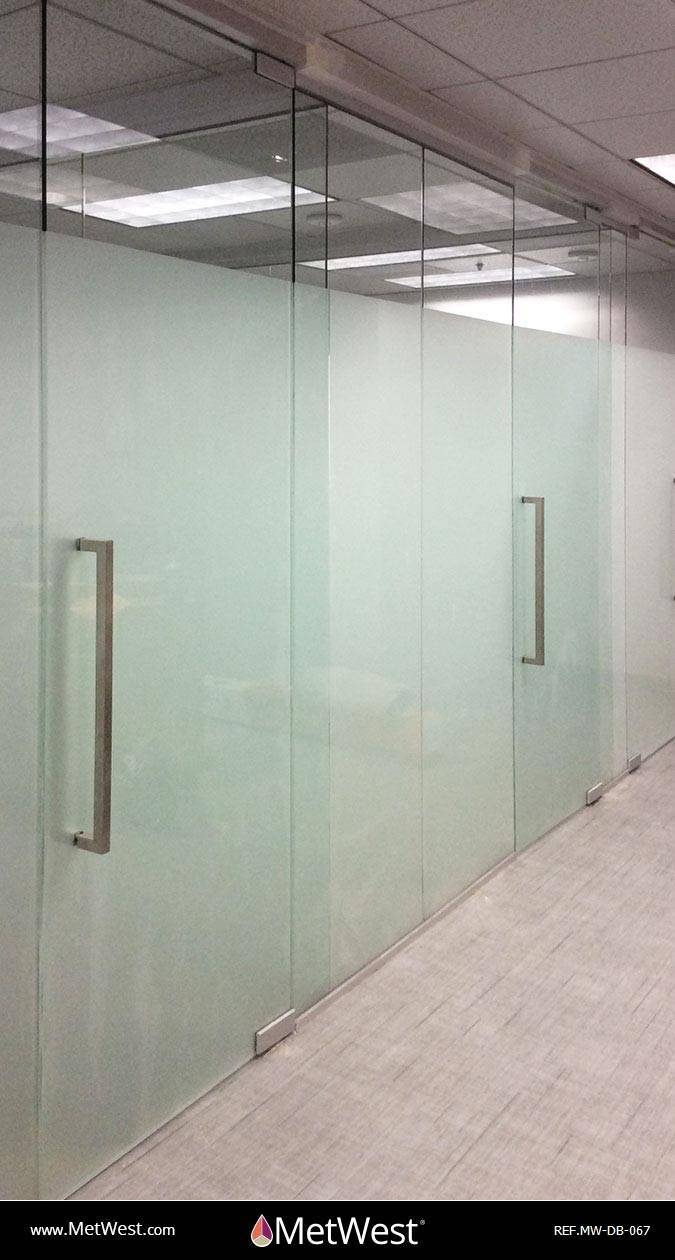 Decorative Glass Film  DB-067 Material:  Metro Frost  Location:   Project:   Client:   Application:  privacy window film