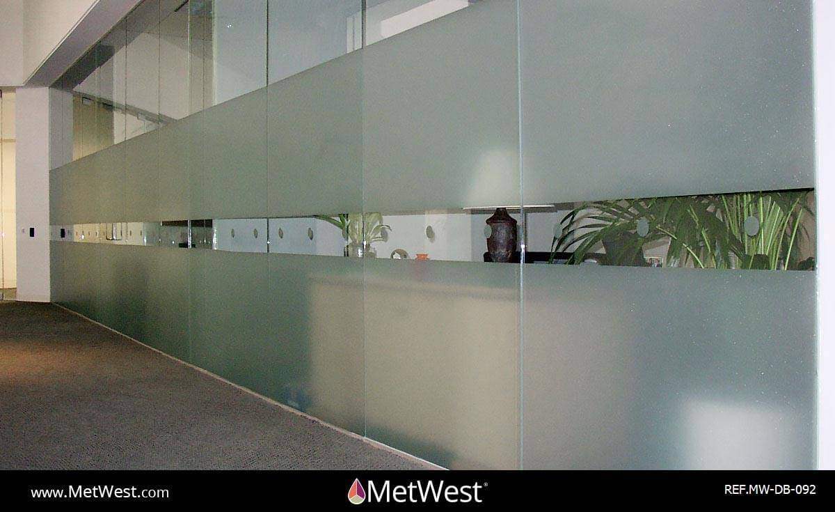 Decorative Glass Film  DB-092 Material:  Frosted crystal  Location:   Project:   Client:   Application:  custom cut privacy film band