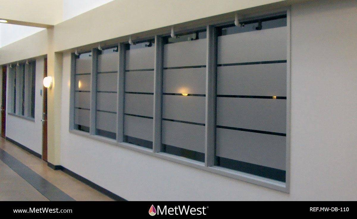 Decorative Glass Film  DB-110 Material:  Metro Frost  Location:   Project:   Client:   Application:  custom cut privacy film bands