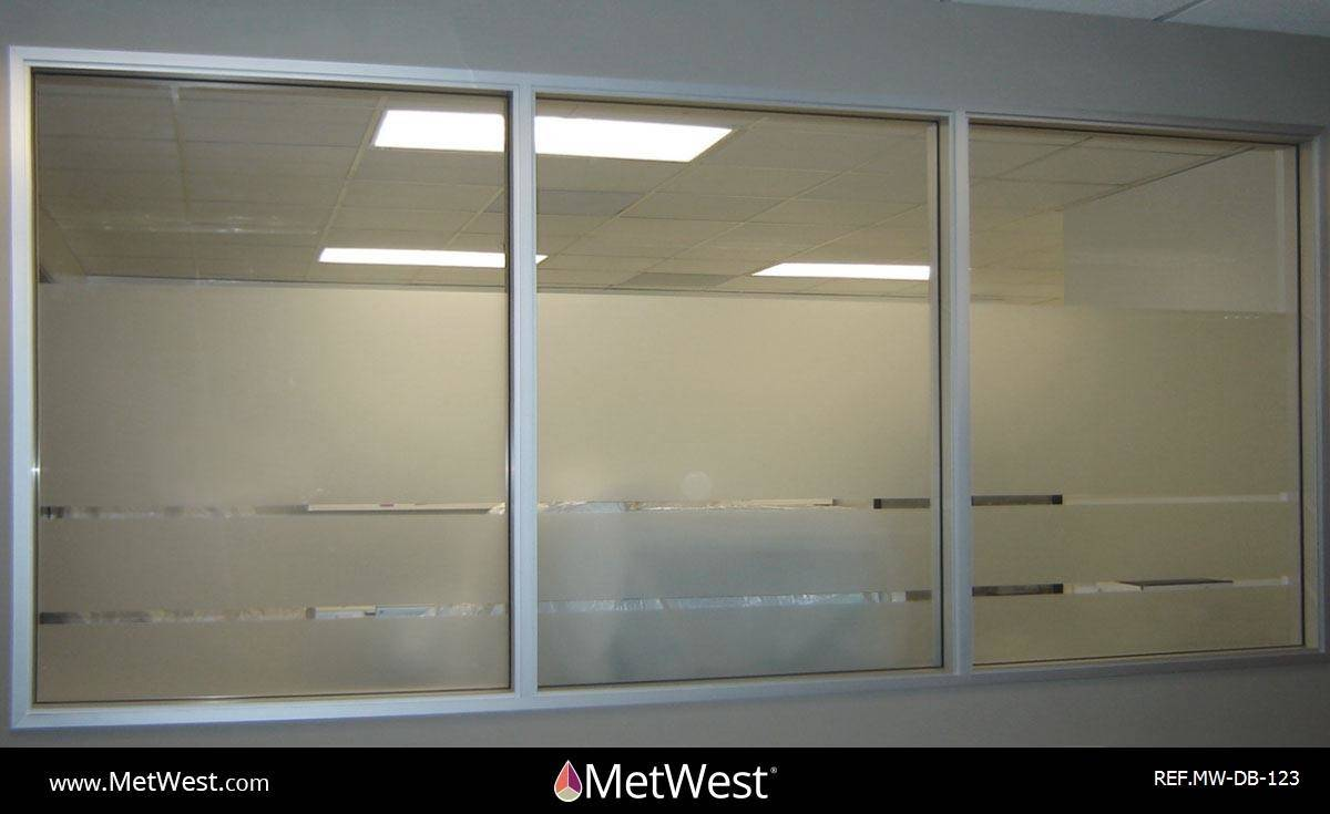 Decorative Glass Film  DB-123 Material:  dusted crystal Location:   Project:   Client:   Application:  custom cut privacy film bands