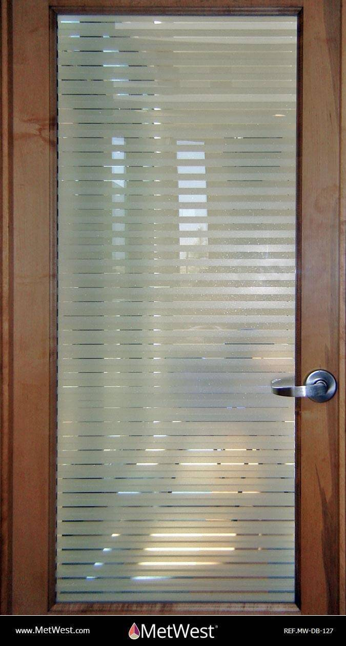 Decorative Glass Film  DB-127 Material:  Frosted crystal  Location:   Project:   Client:   Application:  double blind installation
