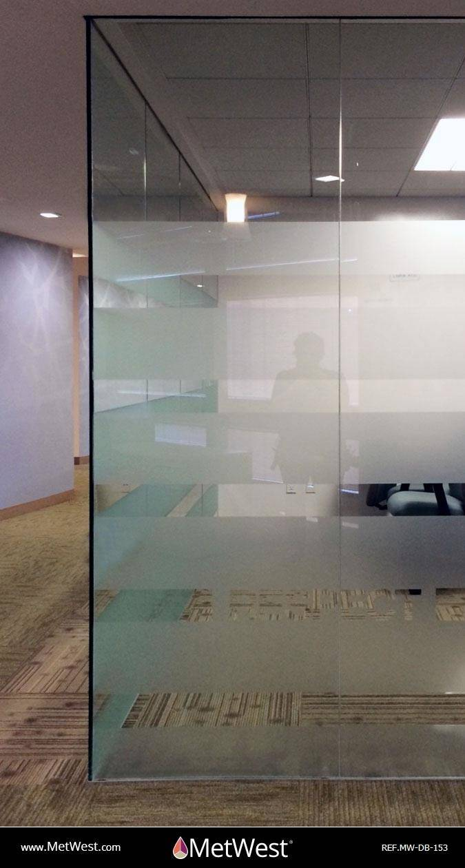 Decorative Glass Film  DB-153 Material:  Dusted Crystal  Location:   Project:   Client:   Application: