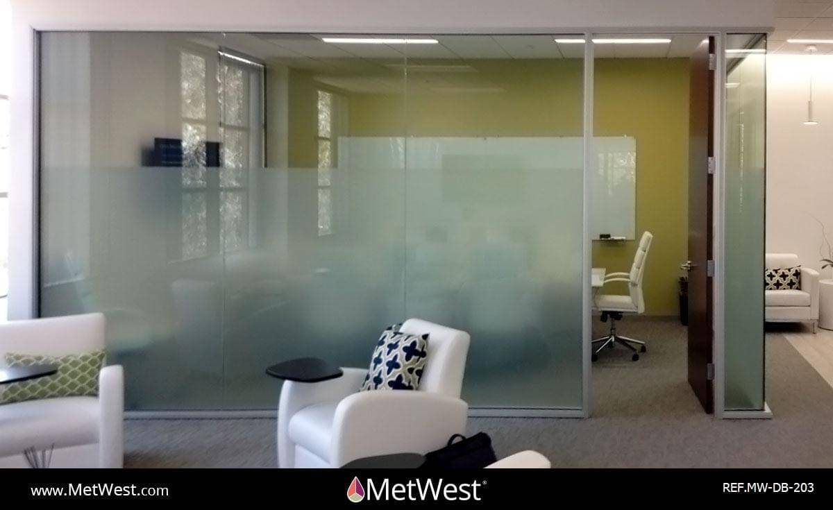 Decorative Glass Film  DB-203 Material:  Dusted crystal Location:   Project:   Client:   Application:  Privacy frosted window film