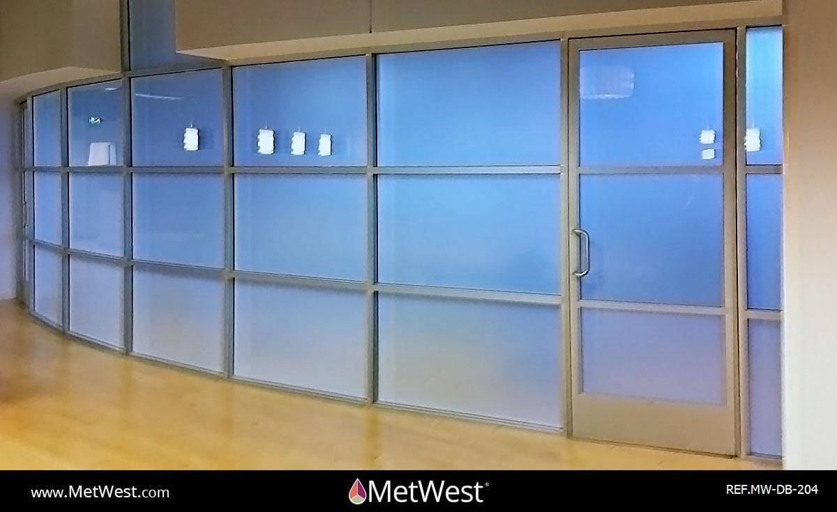 Decorative Glass Film  DB-204 Material:  Metro Frost  Location:   Project:   Client:   Application:  Privacy frosted window film