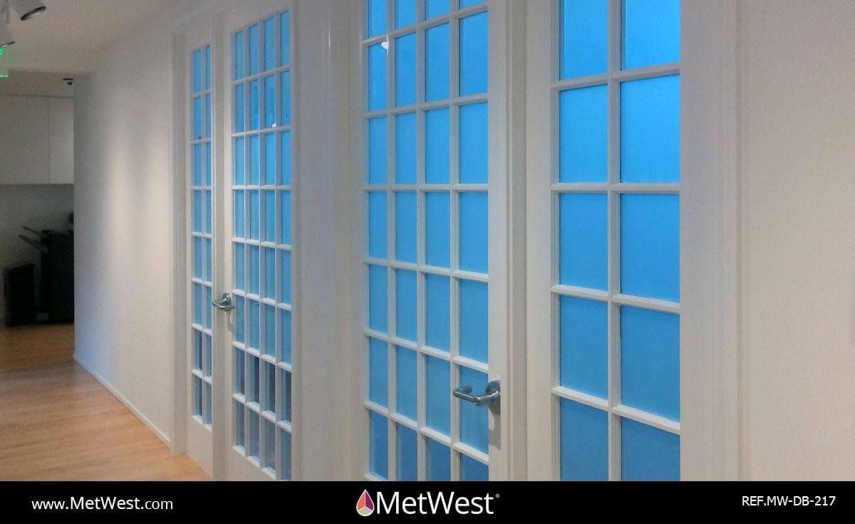 Decorative Glass Film  DB-217 Material:  crystal window film Location:   Project:   Client:   Application:  Privacy frosted window film