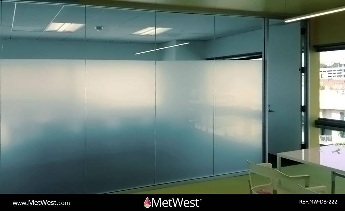 Decorative Glass Film  DB-222 Material:  Dusted crystal Location:   Project:   Client:   Application:  Privacy frosted window film