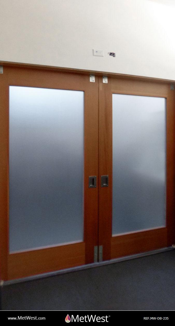Decorative Glass Film  DB-235 Material:  Dusted crystal Location:   Project:   Client:   Application:  privacy window film band