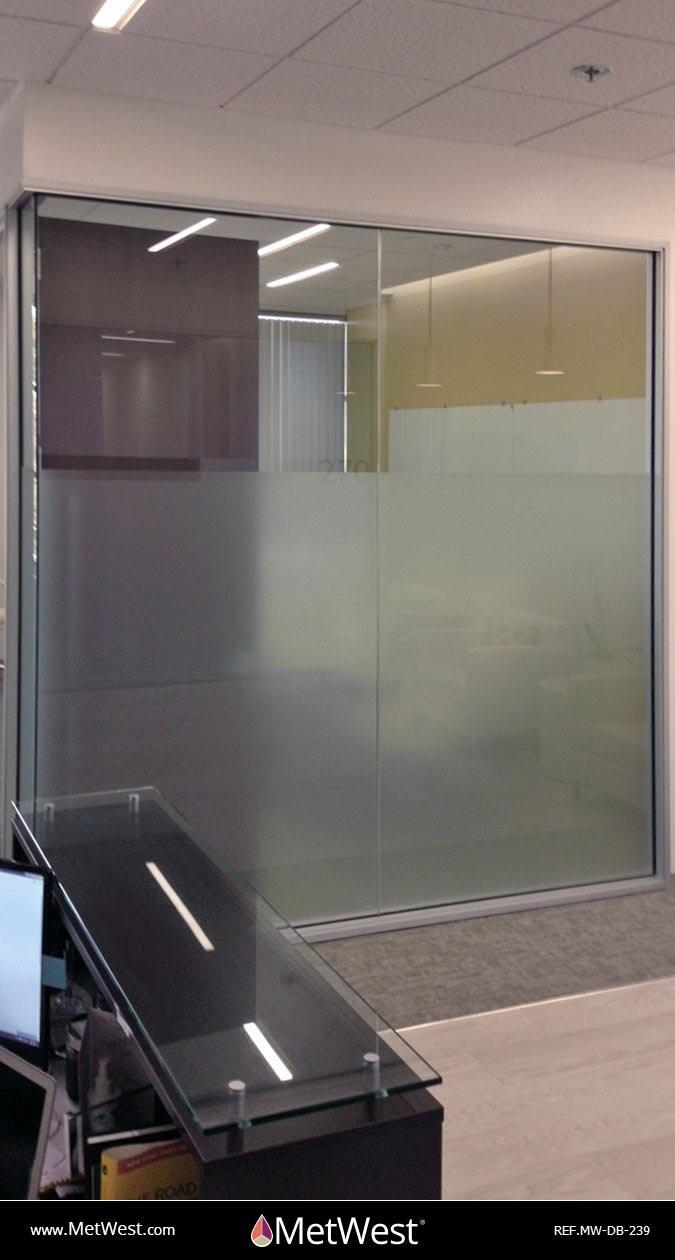Decorative Glass Film  DB-239 Material:  frosted window film Location:   Project:   Client:   Application:  Privacy frosted window film