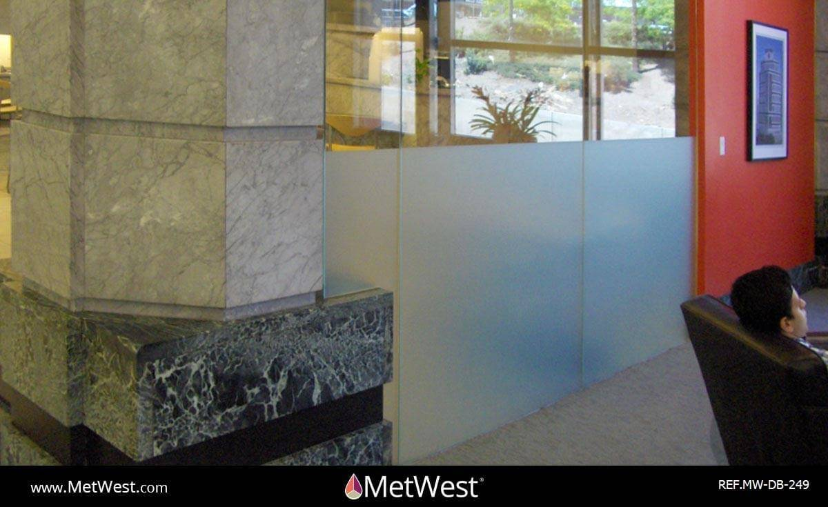 Decorative Glass Film  DB-249 Material:  Metro Frost  Location:   Project:   Client:   Application:  custom printed frosted