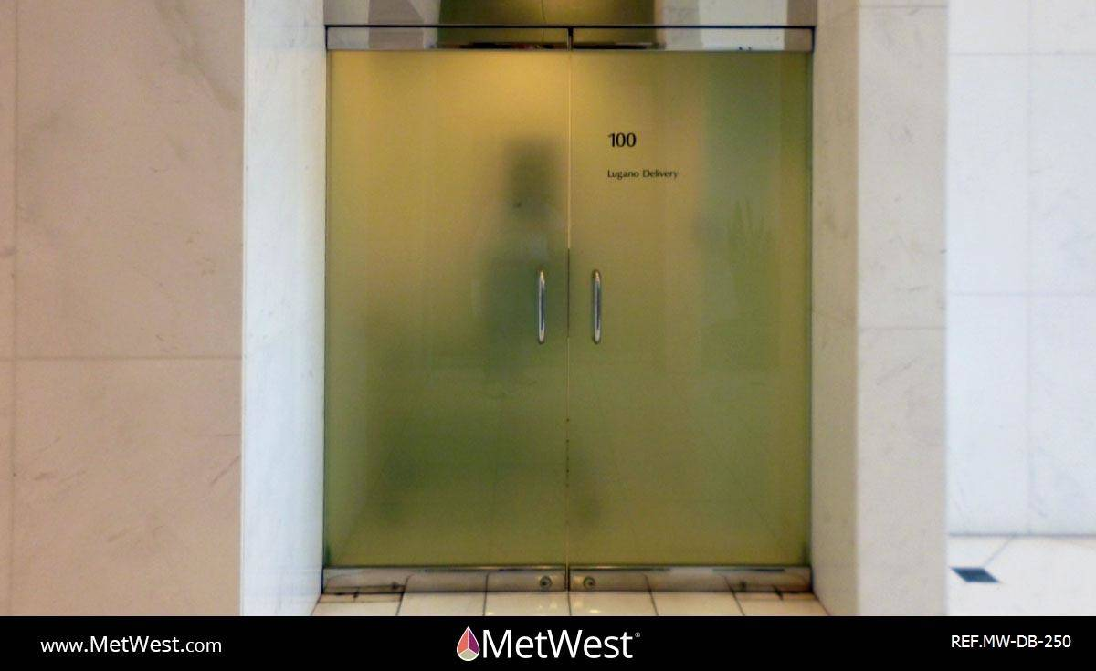Decorative Glass Film  DB-250 Material:  Dusted crystal Location:   Project:   Client:   Application:  custom printed frosted film for added privacy