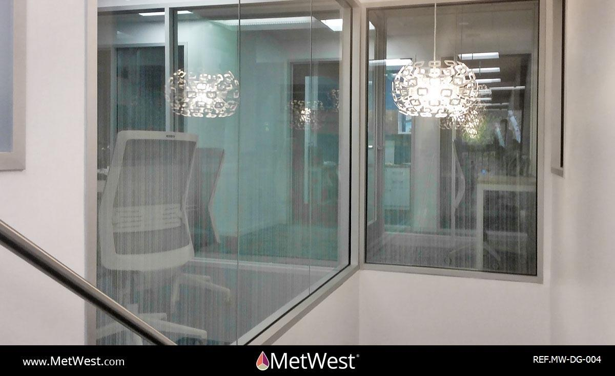 Decorative Glass Film DG-004 Material: clear window film Location: Project: Client: Application: custom pattern faded to clear