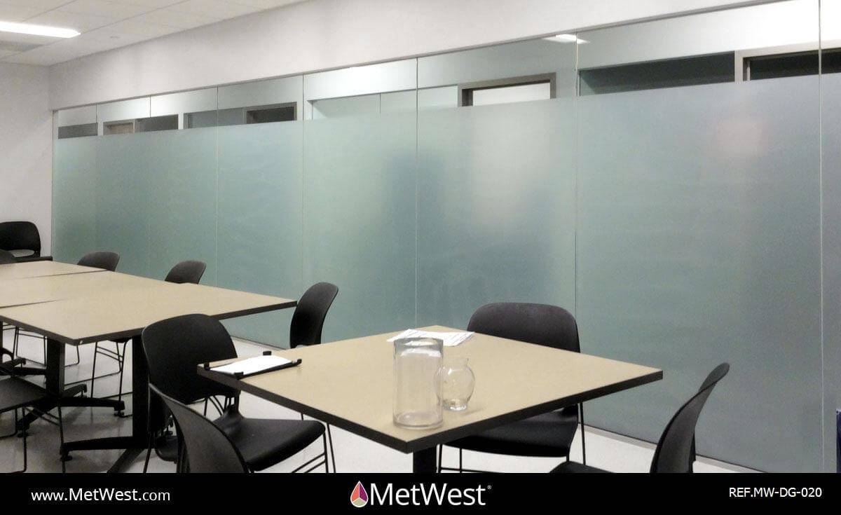 Decorative Glass Film  DG-020 Material:  dusted crystal Location:   Project:   Client:   Application:  privacy film band