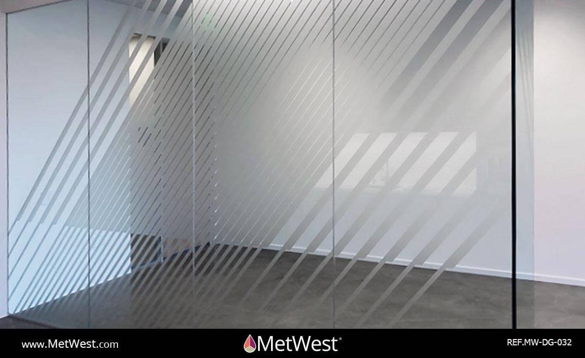 Decorative Glass Film DG-032 Material: dusted crystal Location: Project: Client: Application: custom cut decorative pattern