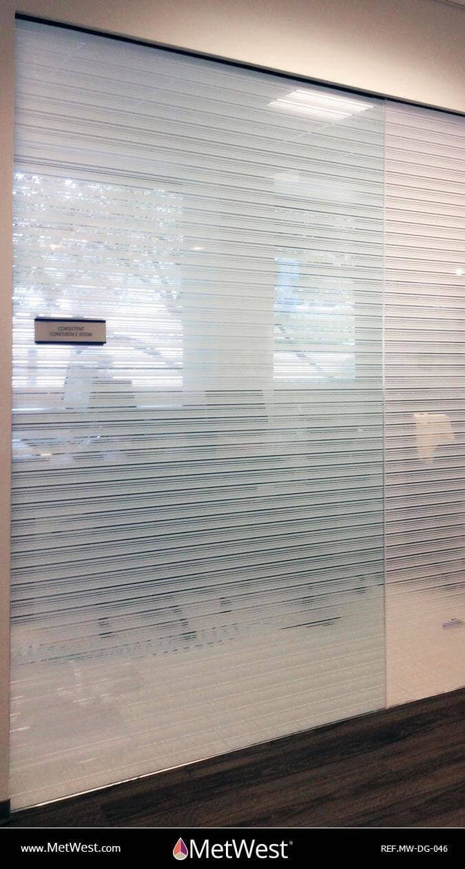 Decorative Glass Film DG-046 Material: clear film Location: Project: Client: Application: random stripes