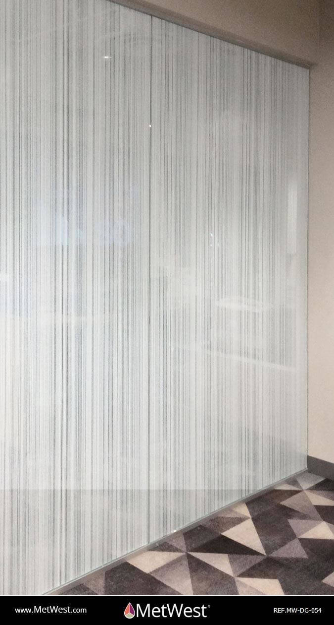 Decorative Glass Film  DG-054 Material:  Arpa Crystal Location:    Project:   Client:   Application:  random stripes privacy film