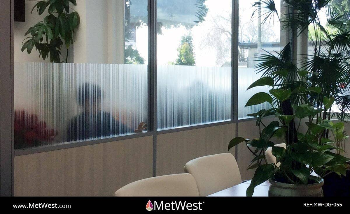 Decorative Glass Film DG-055 Material: Arpa Crystal Location: Project: Client: Application: random stripes privacy film