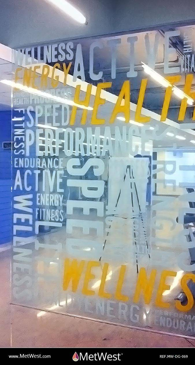 Decorative Glass Film DG-069 Material: dusted crystal Location: Project: Client: Application: custom printed and cut graphics