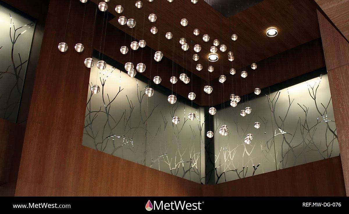 Decorative Glass Film DG-076 Material: Dusted crystal Location: Project: Client: Application: Branches cut pattern