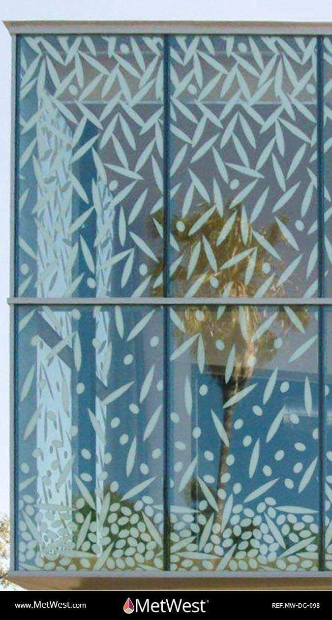 Decorative Glass Film DG-098 Material: Clear film Location: Project: Client: Application: White printed decorative graphics