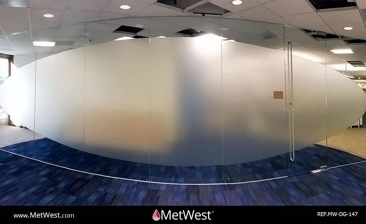 Decorative Glass Film  DG-147 Material:  dusted crystal  Location:  Hollywood  Project:   Client:  WB Application:  custom privacy film
