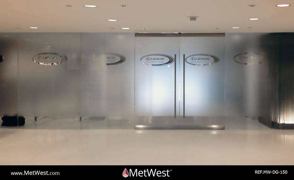 Decorative Glass Film  DG-150 Material:  dusted crystal  Location:   Project:   Client:  Lexus Application:  custom cut privacy film