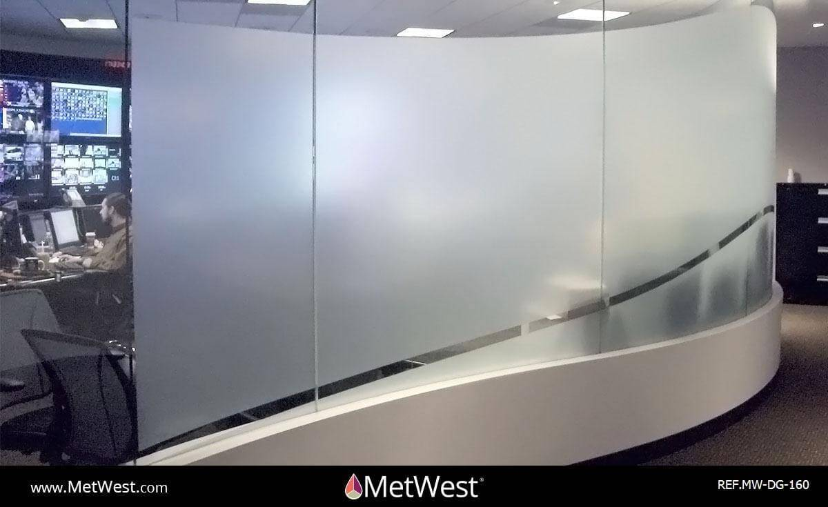 Decorative Glass Film  DG-160 Material:  dusted crystal  Location:   Project:   Client:   Application:  custom cut privacy film