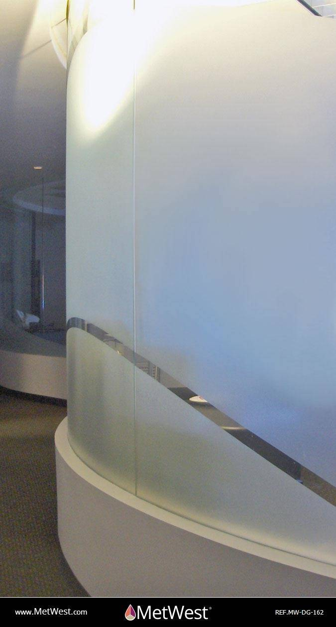 Decorative Glass Film DG-162 Material: dusted crystal Location: Project: Client: Application: custom cut privacy film