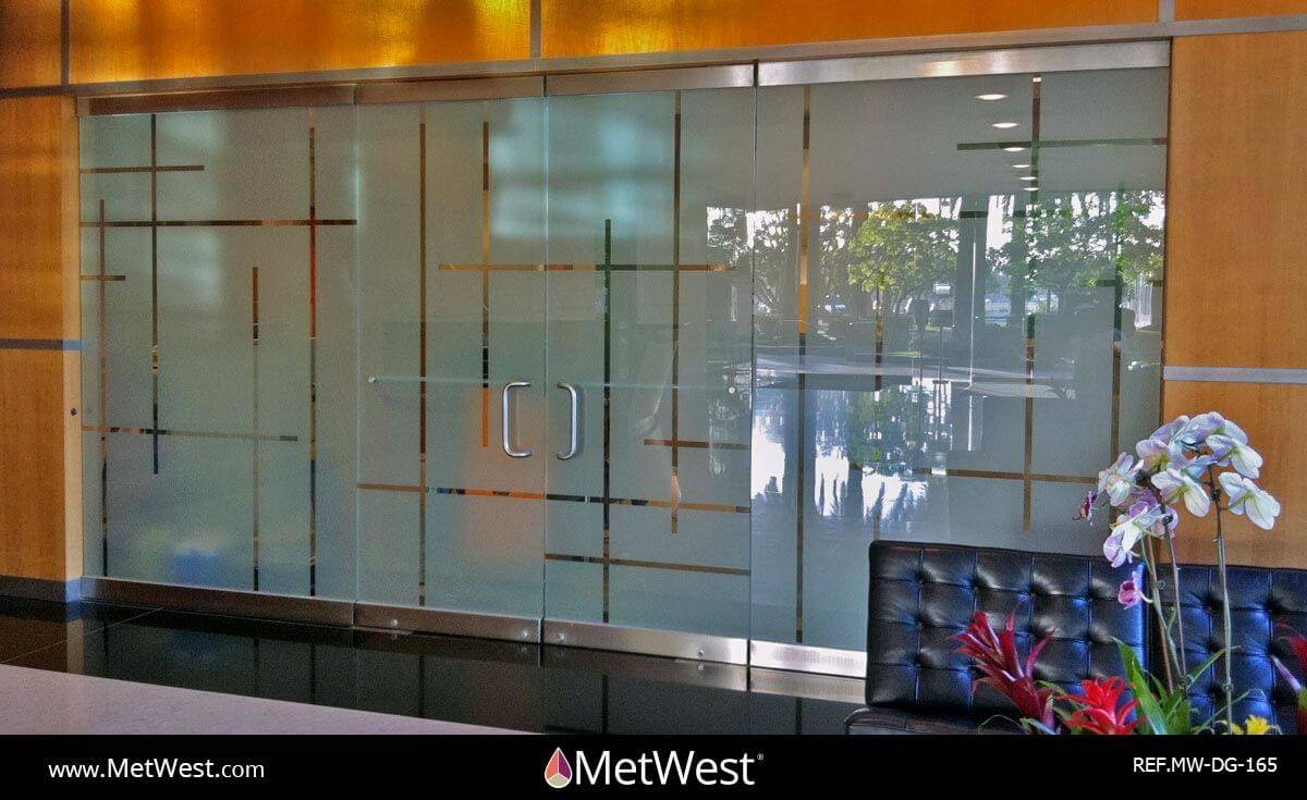 Decorative Glass Film DG-165 Material: dusted crystal Location: Project: Client: Application: custom cut privacy film