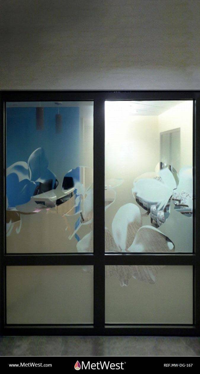 Decorative Glass Film DG-167 Material: clear film Location: Project: Client: Application: custom printed graphics
