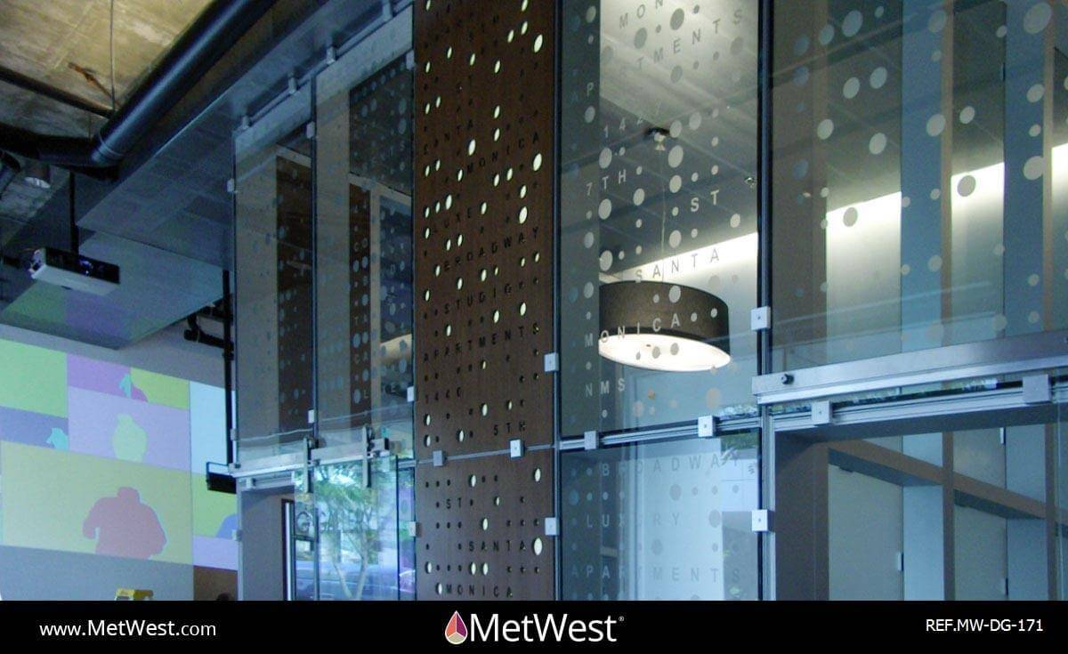 Decorative Glass Film  DG-171 Material:  clear film Location:   Project:   Client:   Application:  custom printed graphics