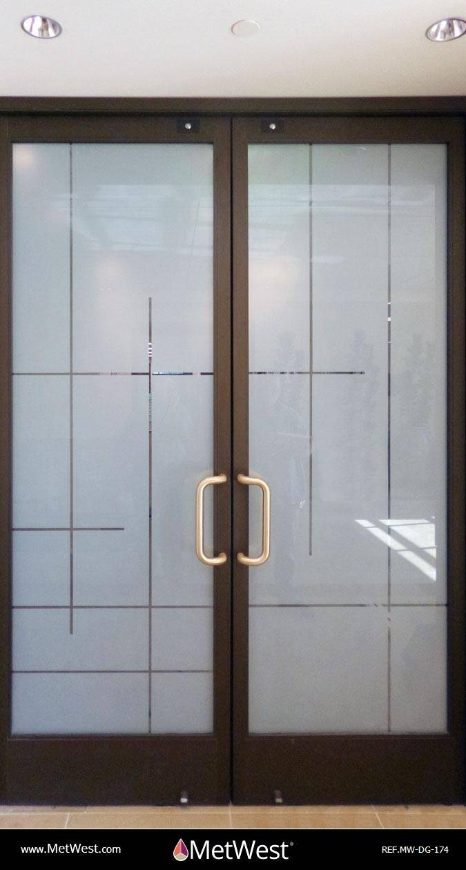Decorative Glass Film  DG-174 Material:  dusted crystal  Location:   Project:   Client:   Application:  custom cut privacy film