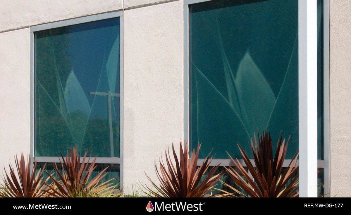 Decorative Glass Film  DG-177 Material:  clear film Location:   Project:   Client:   Application:  custom printed graphics