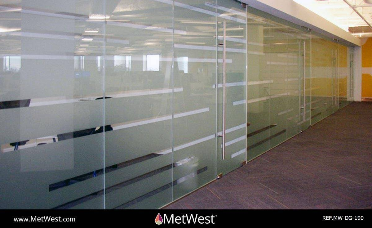 Decorative Glass Film  DG-190 Material:  Dusted crystal  Location:  Los Angeles Project:   Client:  Edmunds Application:  custom cut privacy film