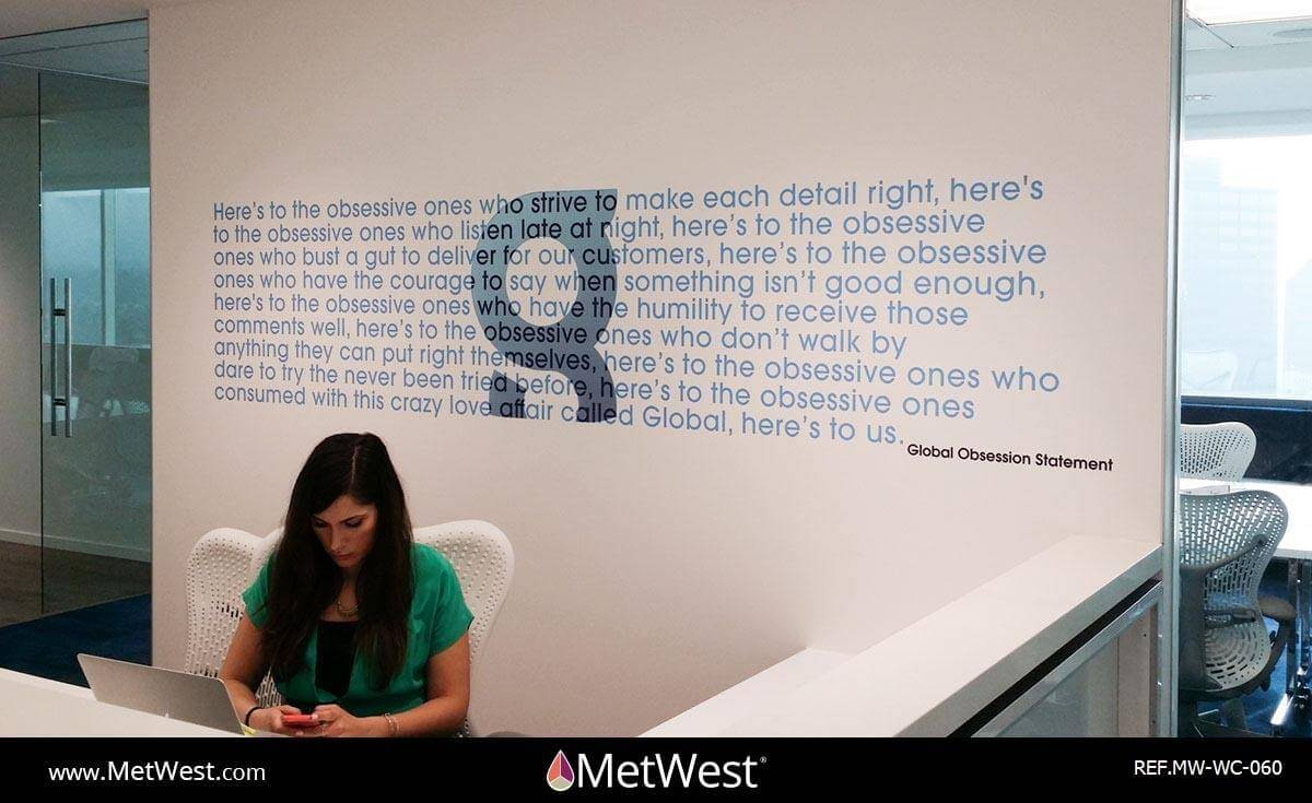 Wall Covering-060 Prnt/cut vinyl letters