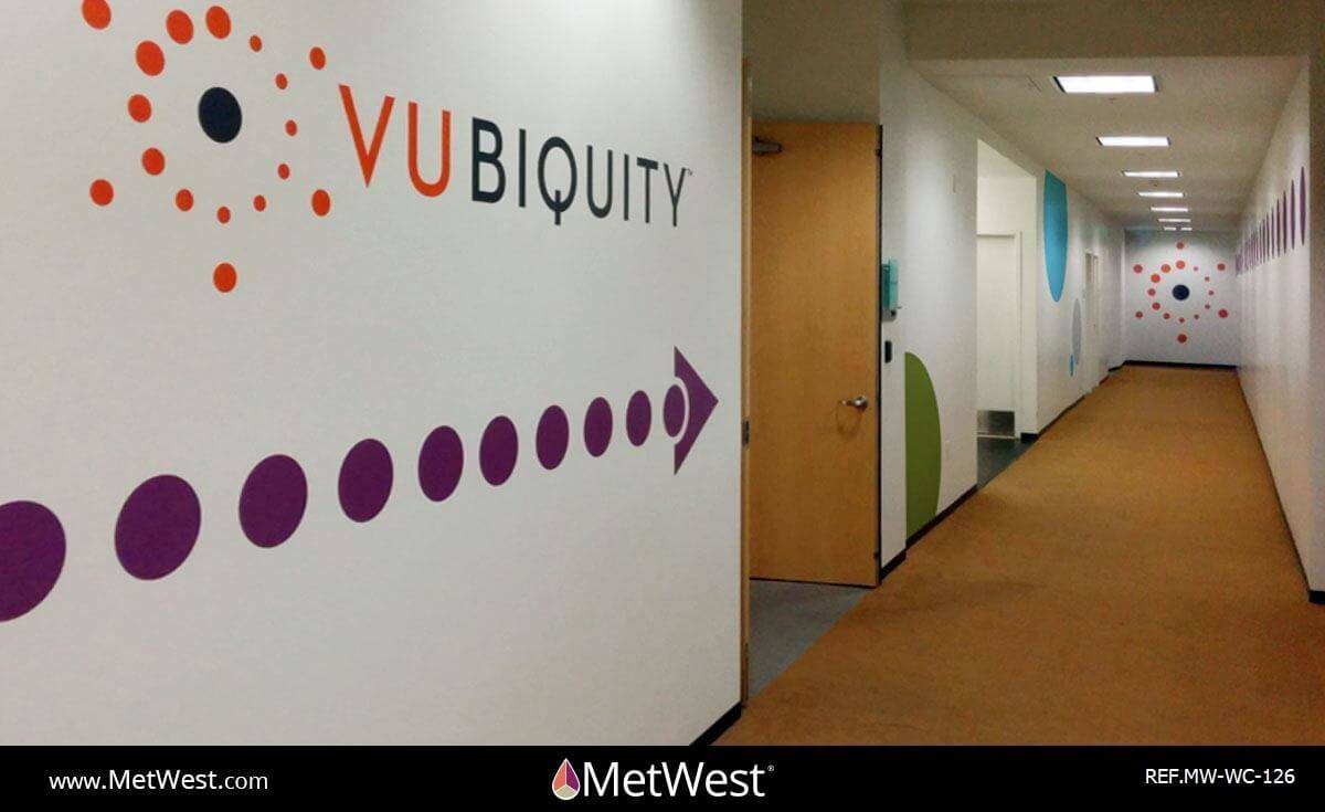 Wall Covering-126 print/cut vinyl matte finish Project: Vubiquity