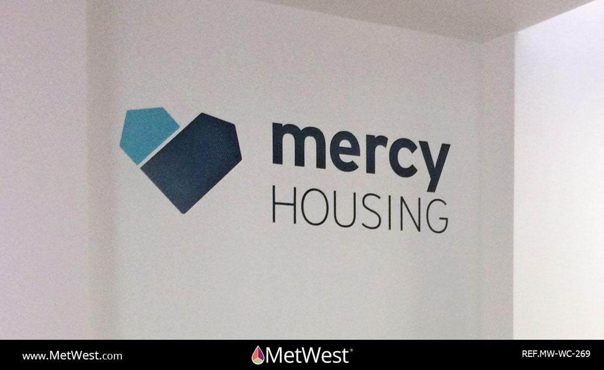 Wall Covering-269 Cut Vinyl letters Project: Mercy Housing