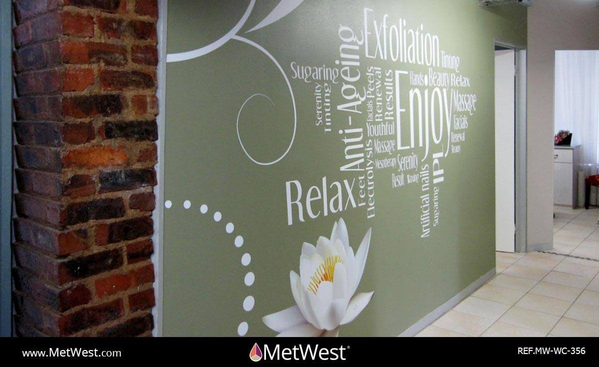 Wall Covering-356 cut vinyl word collage