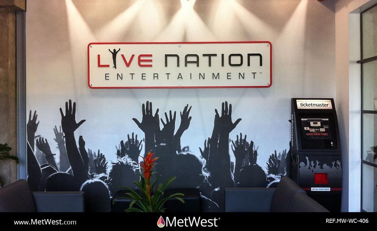 Wall Covering-406 Printed Wallcovering Project: Live Nation