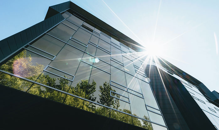 Image showing a building with solar control film