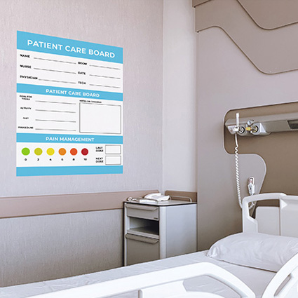 Image showing a writable wall in an hospital room