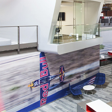 Image showing Mural wall coverings inside a building