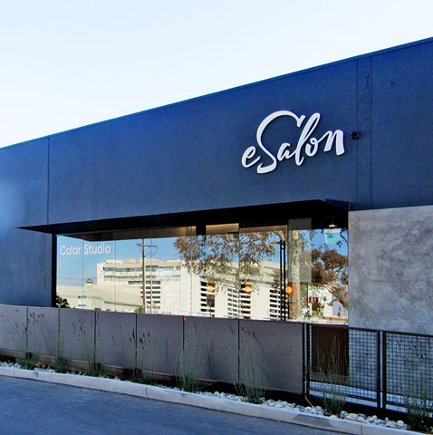 Image of a Custom signage & wayfinding on a building