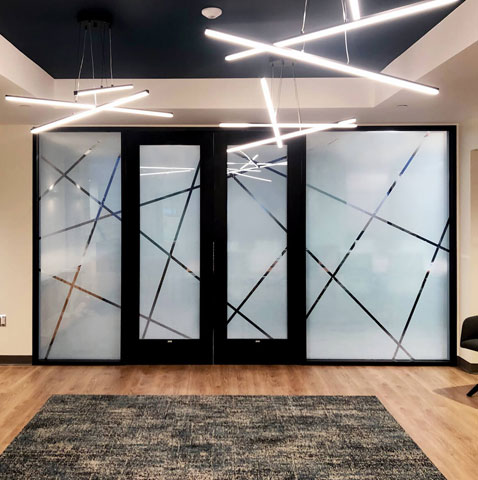 Image showing glass film on doors