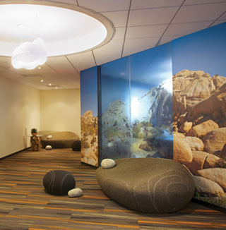 Image of 3D ocean wall covering
