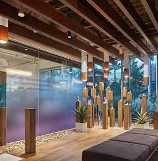 Image of custom gradient and transform glass walls and windows