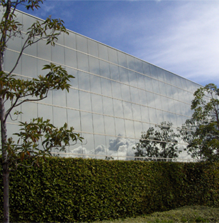 Image showing a building with building wrap